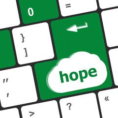 Computer keyboard with hope key