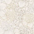 Seamless pattern of peonies - 79491271