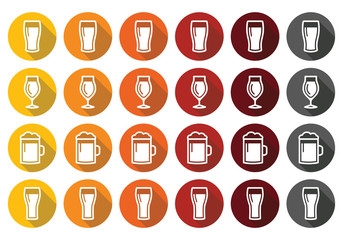 Beer glasses - lager, pilsner, ale, wheat beer, stout