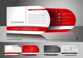 One side rounded light business card design