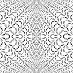 Design symmetric lacy diagonal warped pattern