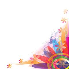 Color illustration of flowers