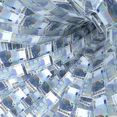 Geldstrudel aus 20 Euroscheinen