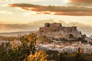 Acropolis with Parthenon temple in Athens,  Greece