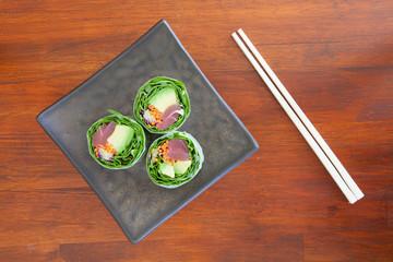 Soypaper Tuna Lettuce Rolls