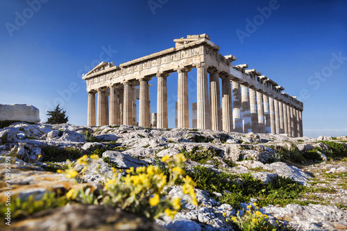 Fotobehang Athene Parthenon temple on the Athenian Acropolis in Greece