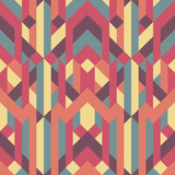 Fototapety abstract retro geometric pattern