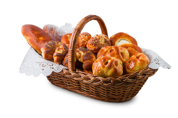 Pastry in the basket