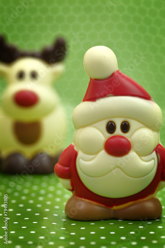 Papiers peints Confiserie Festive Christmas chocolate Santa and deer confectionery