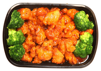 General TSO Chicken and Brocolli To Go