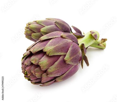 Papiers peints Legume Purple artichokes.