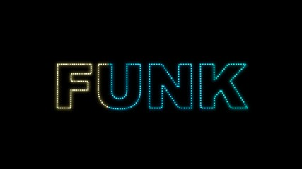 """Set of 10 """"FUNK"""" text LEDS reveals with alpha channel"""