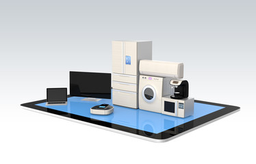 Smart home appliances on tablet PC for IoT concept