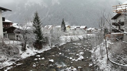 Zillertal Valley in winter. Mayrhofen, Austria