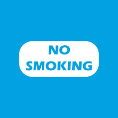 No smoking white icon