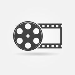 Black film roll logo or icon