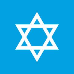Judaism white icon