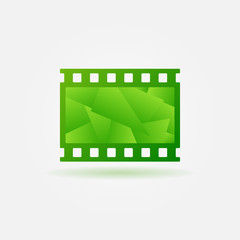 Cinema filmstrip logo template