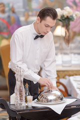 Waiter In the luxury restaurant