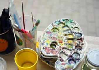 Paint palette, watercolor