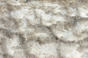 Abstract background of dirty snow spring