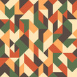 Abstract seamless pattern with triangles and rhombuses.