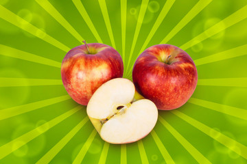 Two apples and half