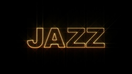 "Set of 10 ""JAZZ"" text LEDS reveals with alpha channel"