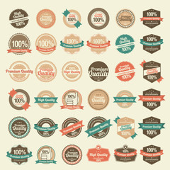 36 Premium Quality Labels with retro vintage design