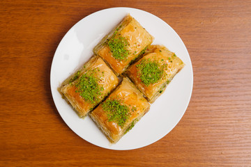 Baklava, traditional turkish dessert