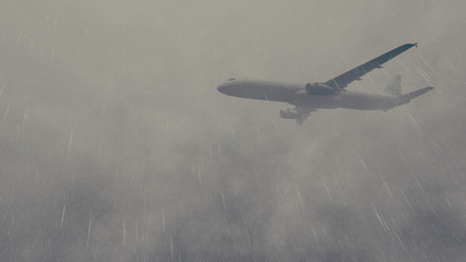 Airliner flies through a storm 2
