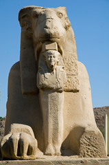 Lion with Pharoah in Karnak