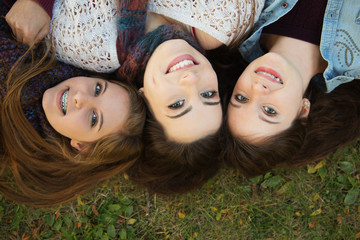 Trio of Happy Girlfriends