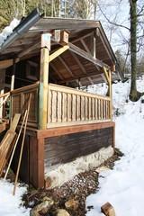 Hütte in den Bergen