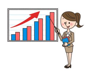 女性 グラフ