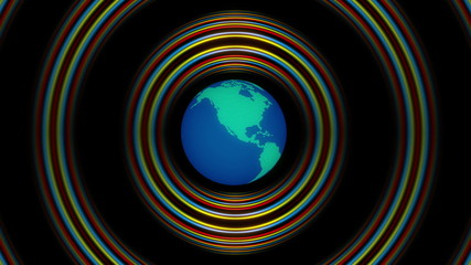 abstract loop motion background, globe