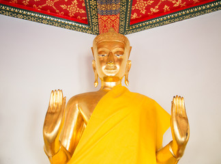 Golden Buddha Beautiful elegant of wat pho