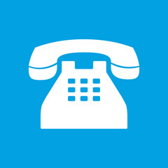 Telephone white icon