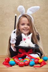 Conjuring the easter rabbit