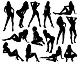 Sexy Woman Silhouettes - 79502826