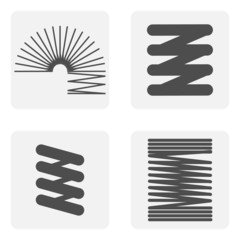 monochrome icon set with Springs