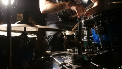 Man playing drums - closeup