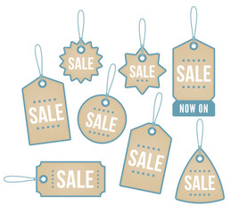 A set of star themed price tags