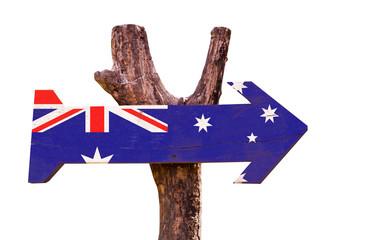 Australia Flag isolated on white background