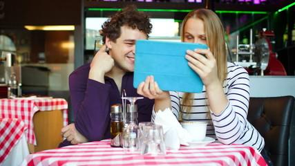 Couple talking Skype
