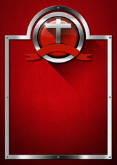 Red and Metal Christian Background