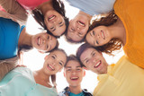 group of smiling teenagers - 79507649