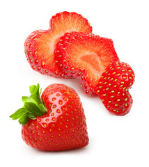 Strawberry heart shape berry