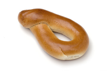 bagel on the white background