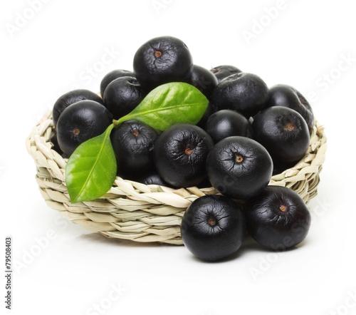 Aluminium Vruchten Berries in bowl isolated